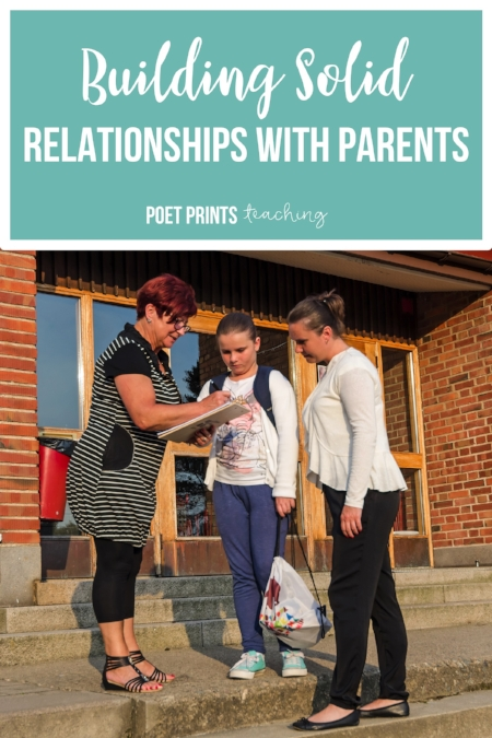 Building Relationships with parents  - Poet Prints Teaching