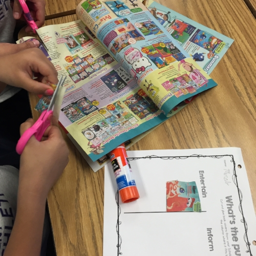 Using our class book order flyer helped students to make a real-life connection to the content.