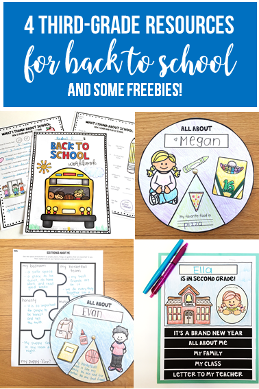 4 resources that you need to make back to school in third grade so much easier!  - poet prints teaching