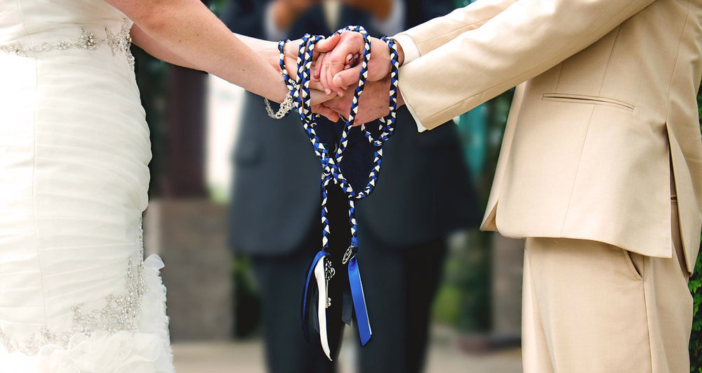 Knot Tying during the wedding ceremony