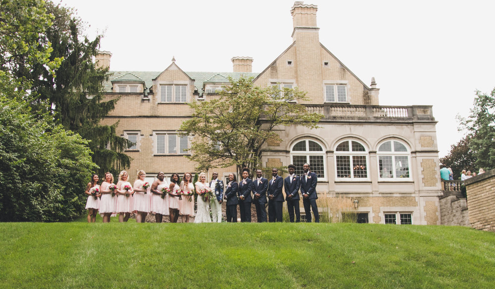 Wedding Party at Laurel Hall in Indianapolis, Indiana