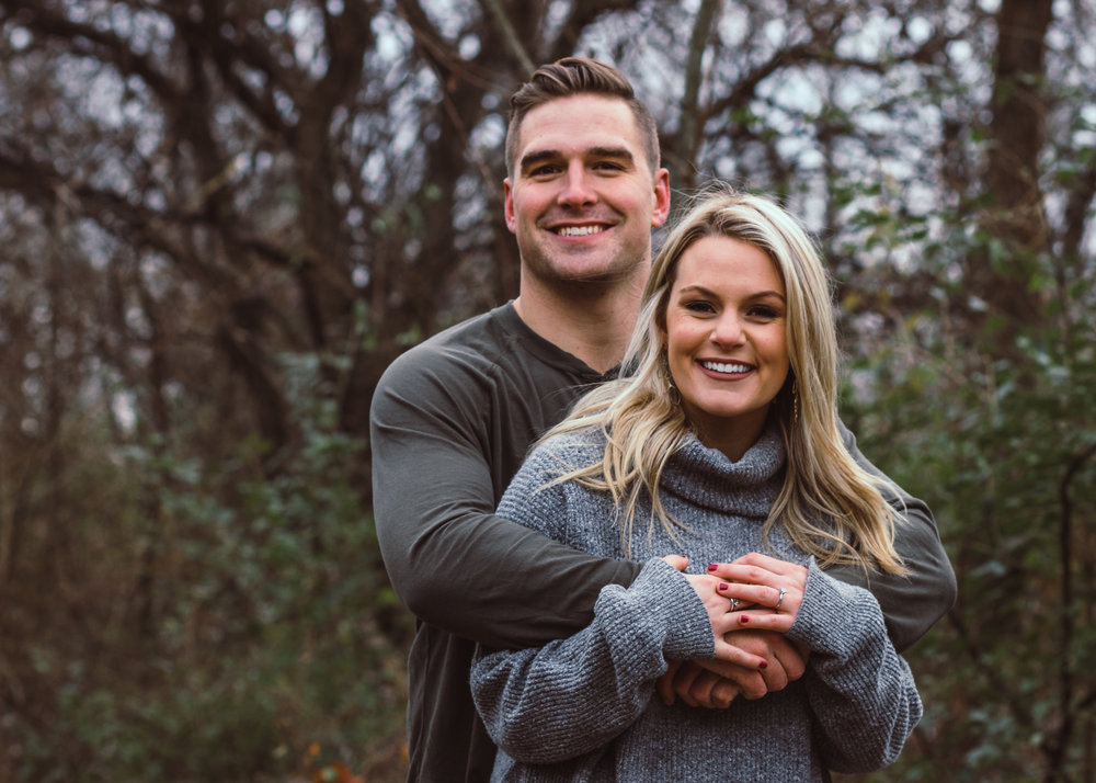 Engagement Portrait, Richey Woods Nature Preserve in Fishers, Indiana