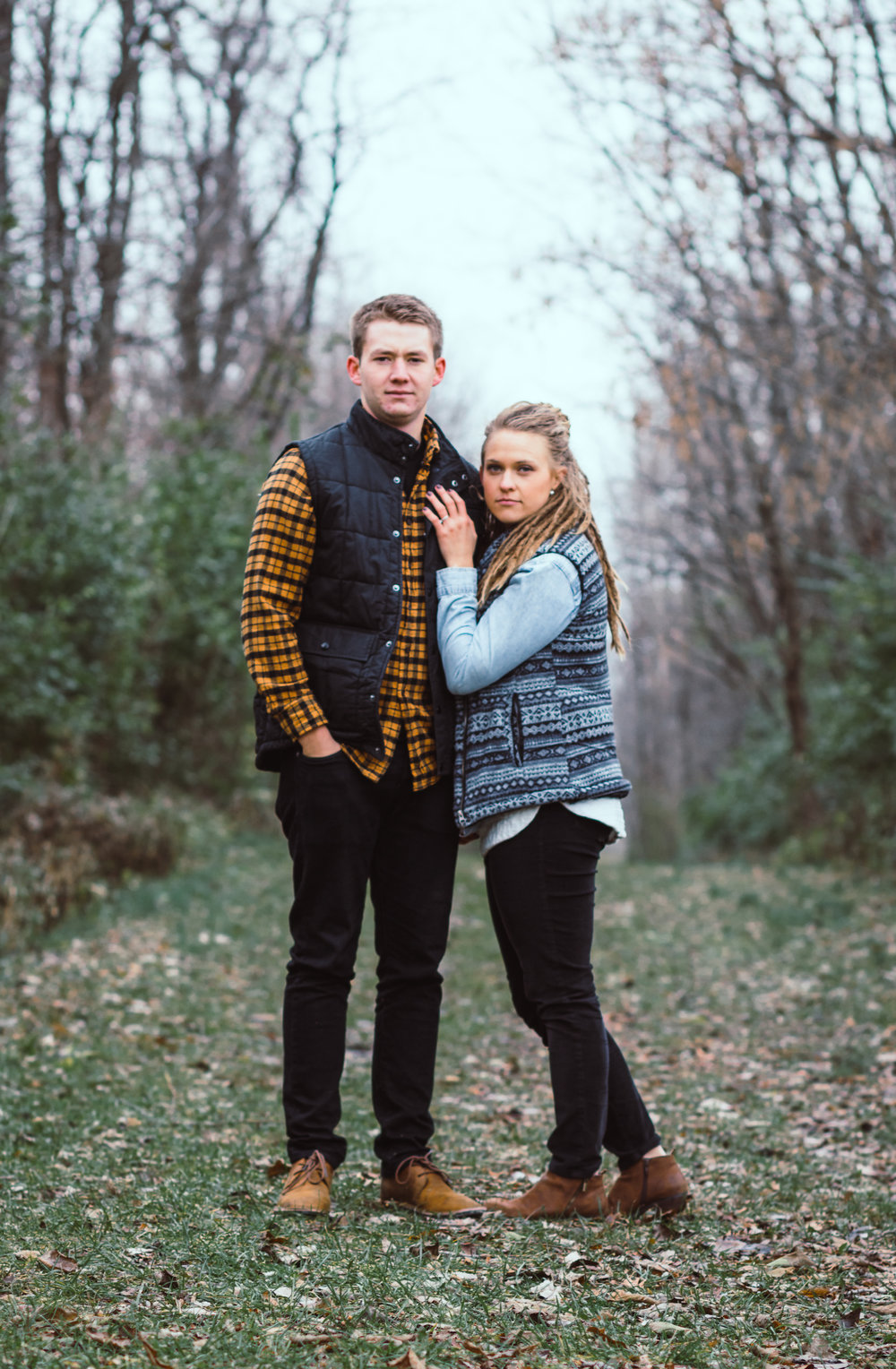 Outdoor Engagement Portrait, Fishers, Indiana