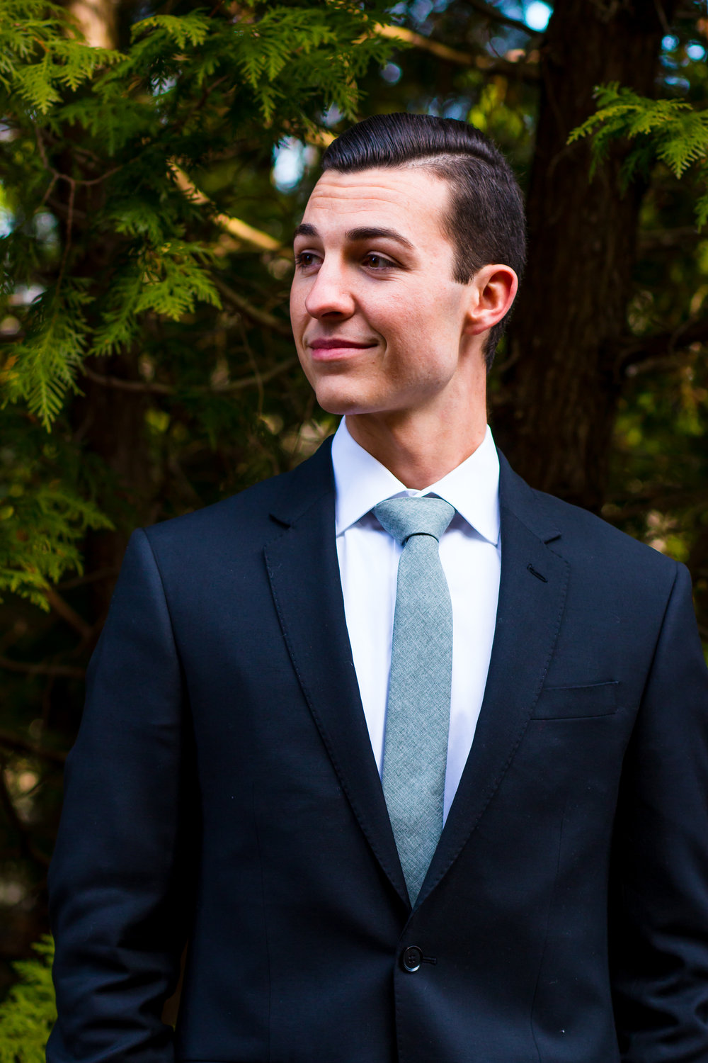 Wedding Photography portrait of a groom at Whitetail Tree Farm in Springport, Indiana.