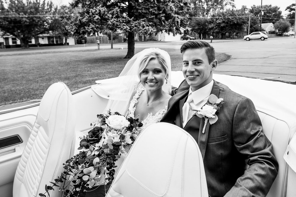 Brdie and Groom at the Henry County Arts Park in New Castle, Indiana