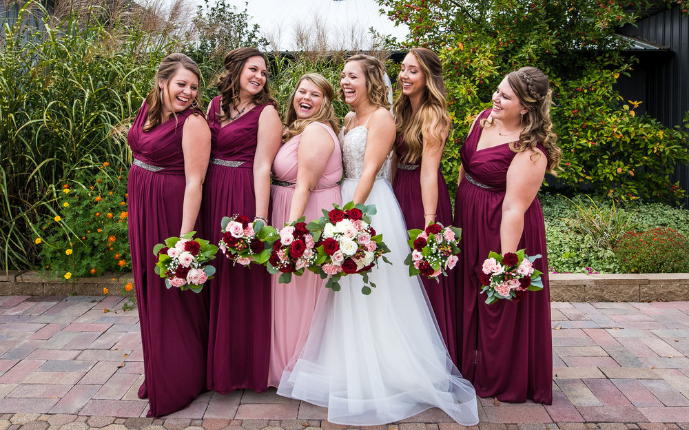 Bridesmaids at Allen County Fairgrounds in Fort Wayne, Indiana