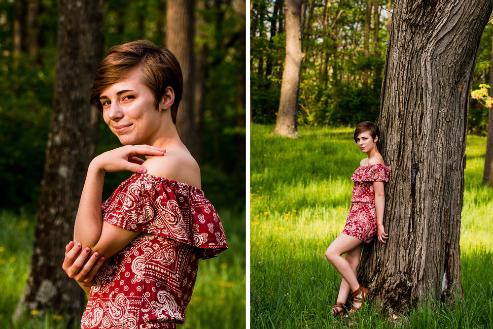 High School Senior Portrait, Westwood Park in New Castle, Indiana