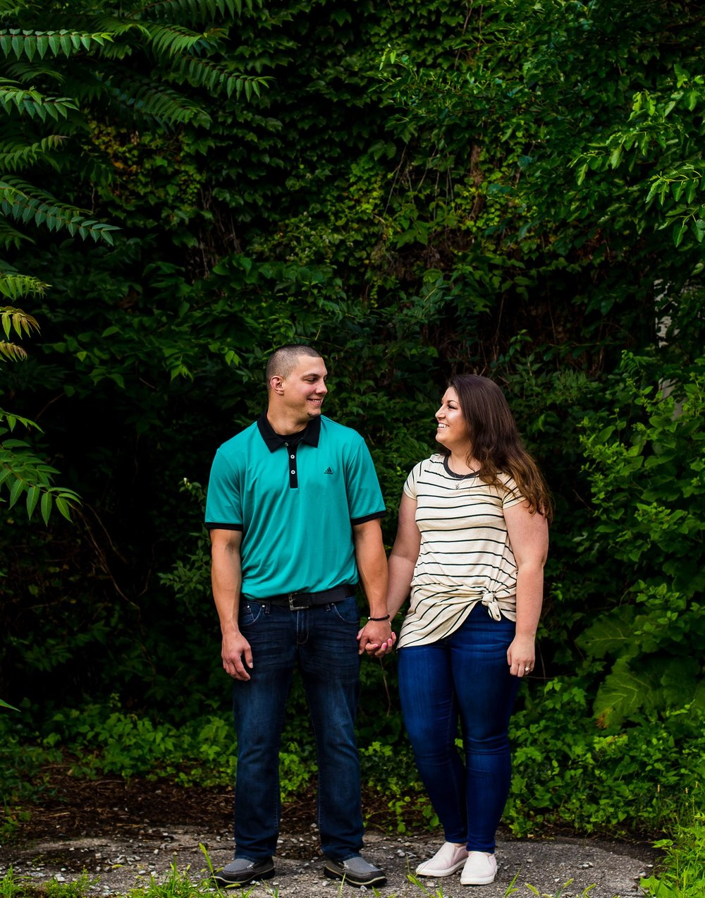 Engagement session in downtown New Castle, Indiana