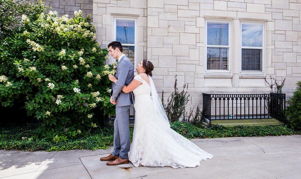 Bride surprising Groom
