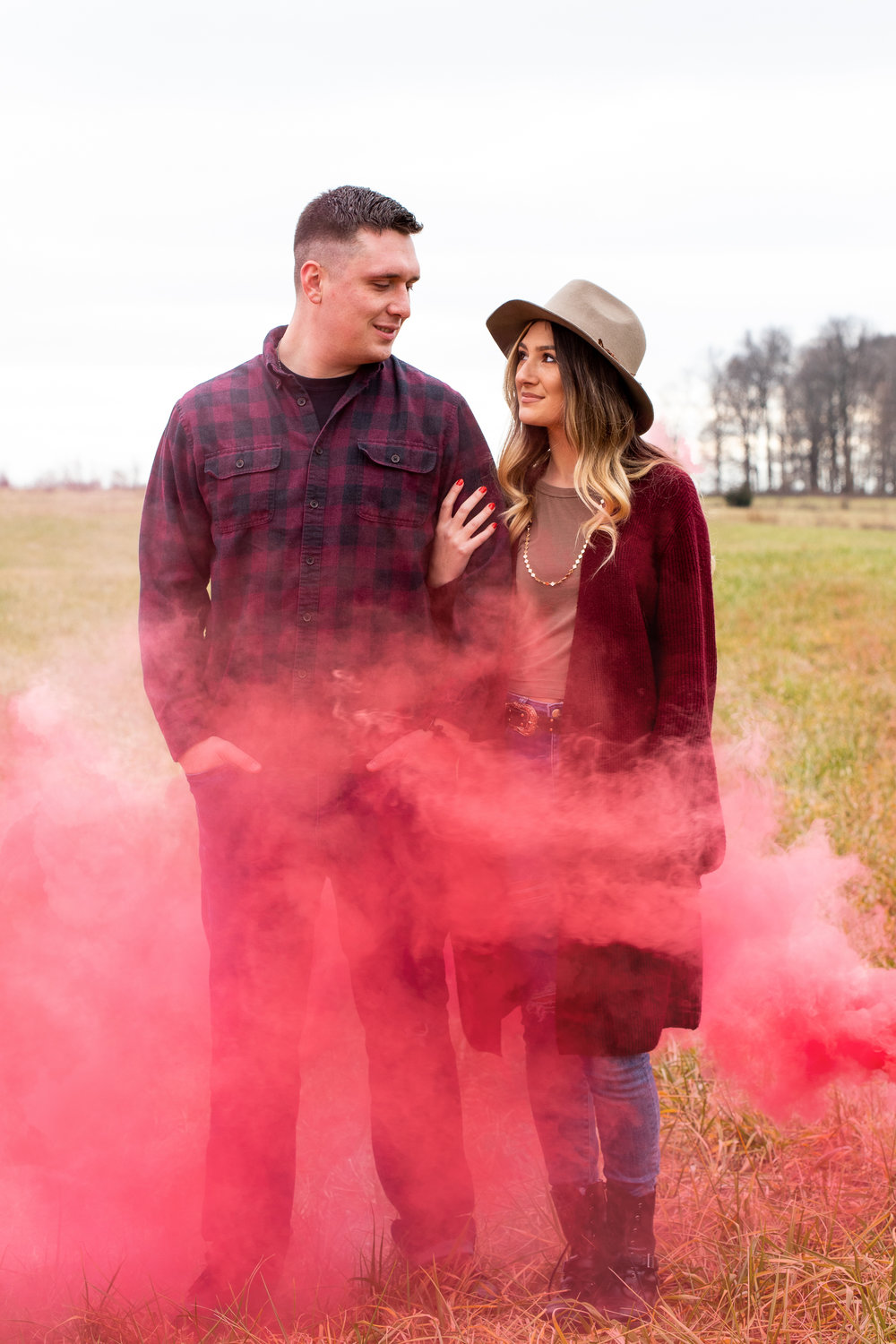 Smoke bomb fun in Spiceland, Indiana