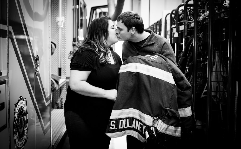 engagement-photographer-fire department-indiana-chesterfield-anderson