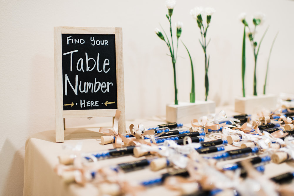 Find your table number chalkboard sign.