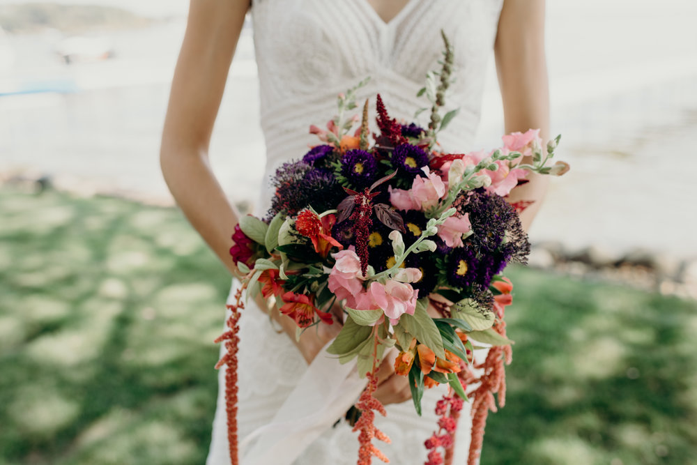 Bridal bouquet from Dane County Farmer's Market.