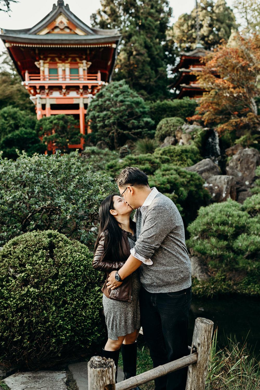 Japanese Tea Garden And Sutro Baths Engagement Session San