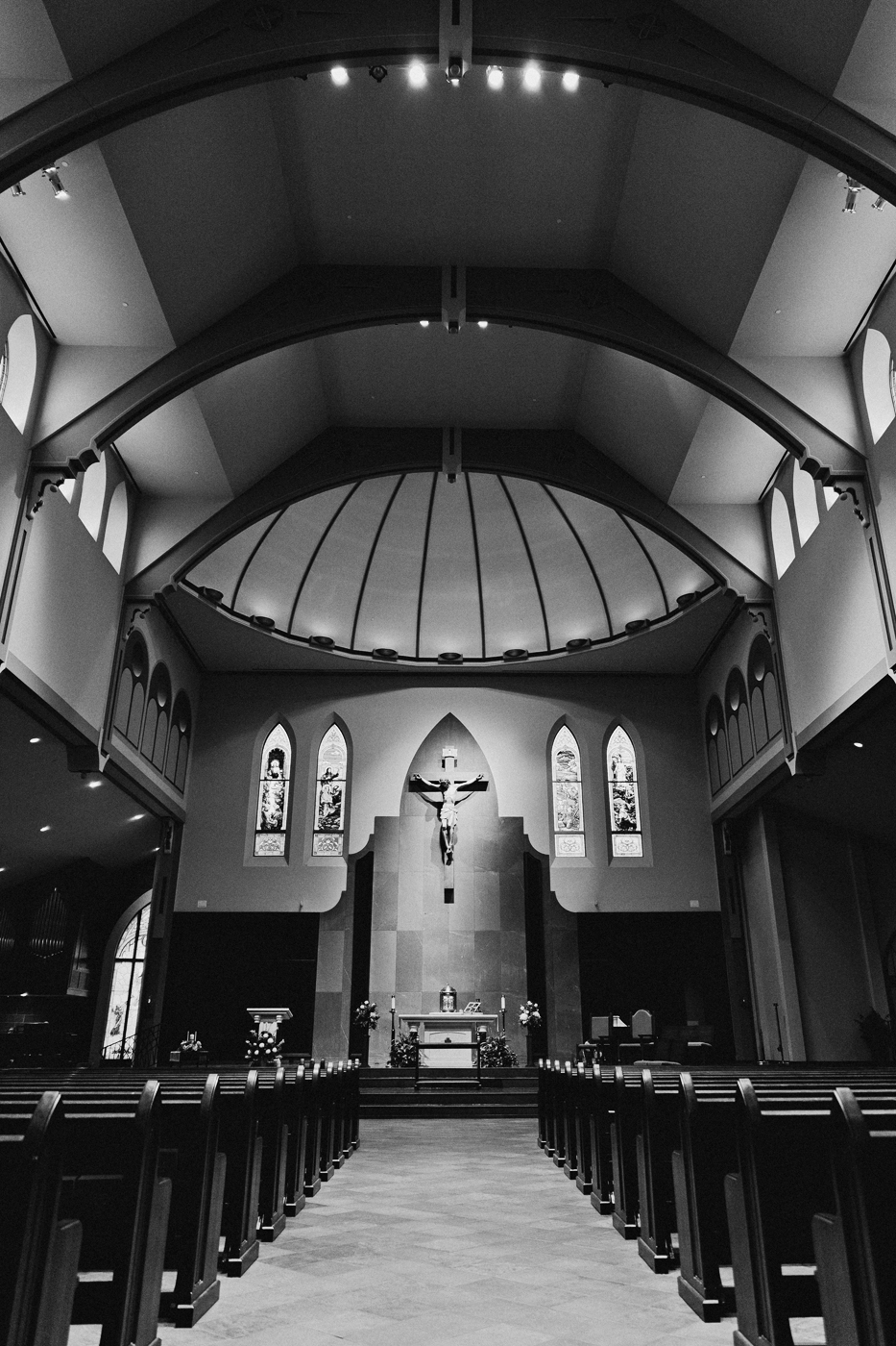 Interior view of St. Michael Catholic Church