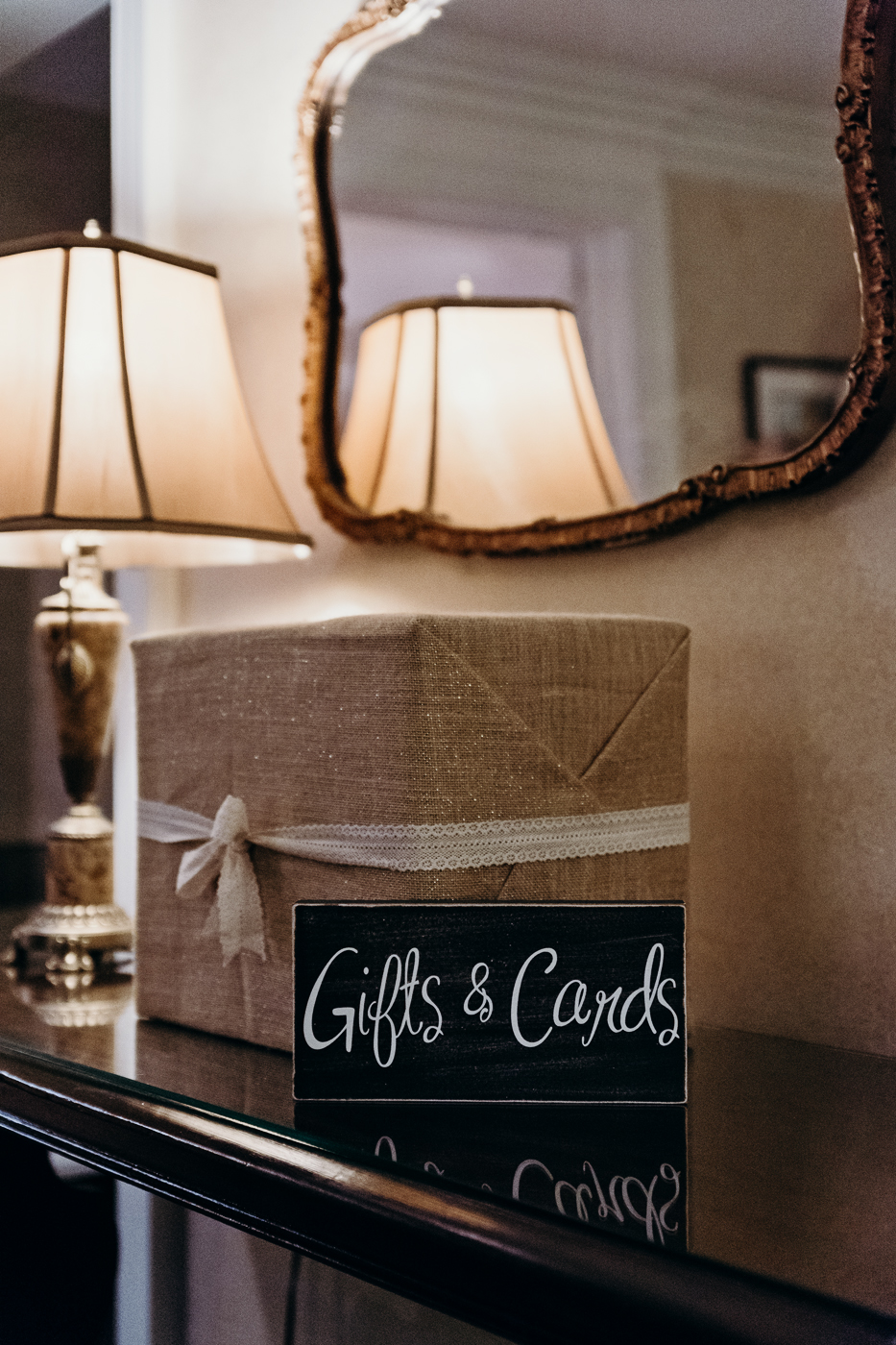 Gift card box and sign