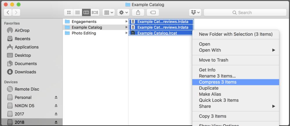 Step 8: Select Lightroom Files