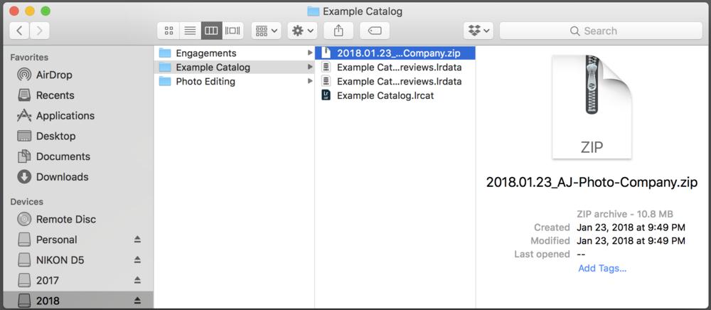 Step 10: Rename Zip File