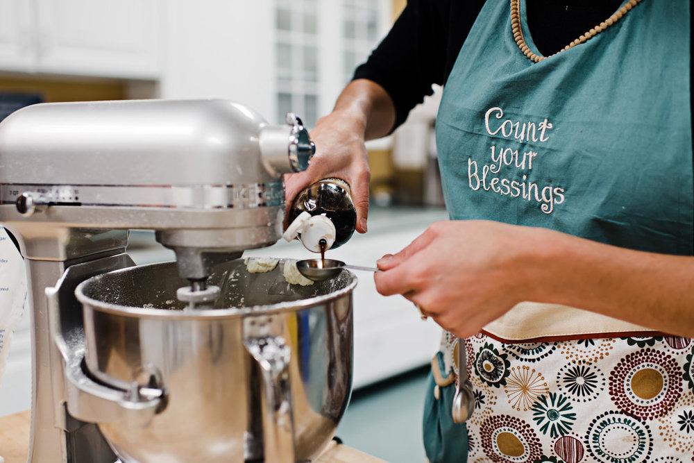Diana measuring vanilla extract