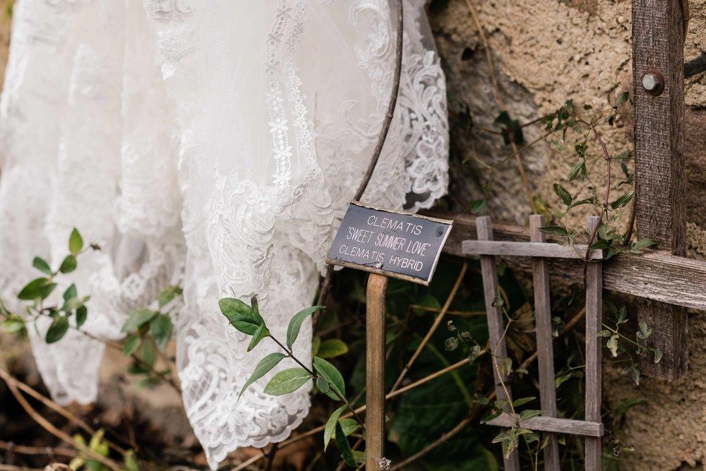 Bottom of wedding dress