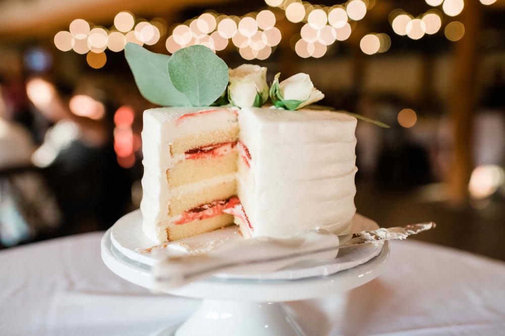 Jelly filled wedding cake