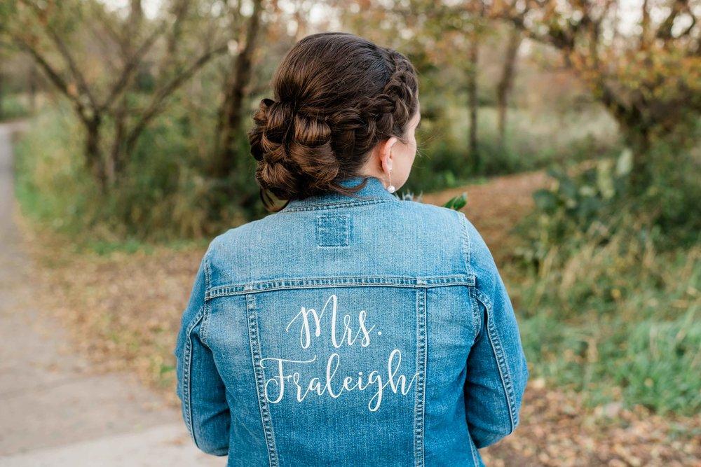 Personalized bridal denim jacket