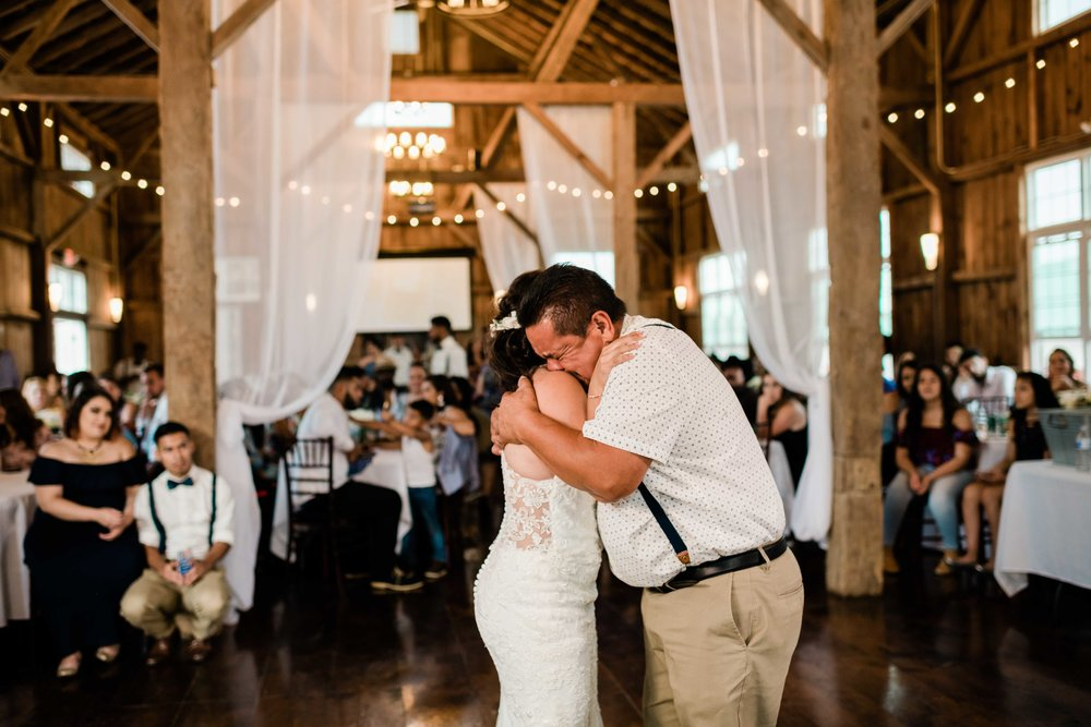 Father of bride breaks down as he dances with his daughter