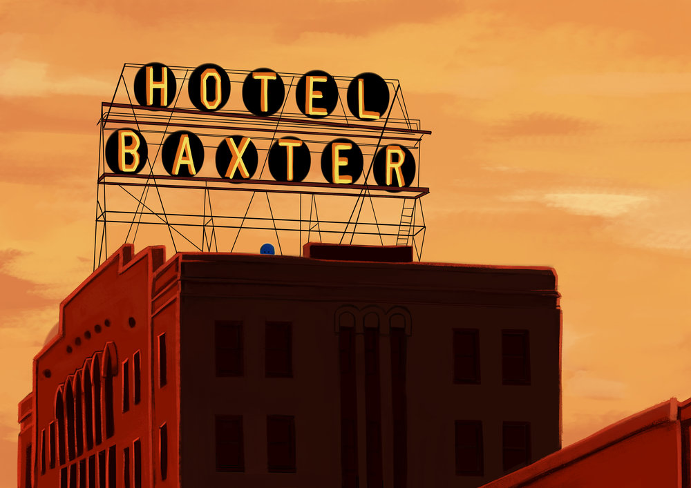Patched Baxter Hotel Illustration Two