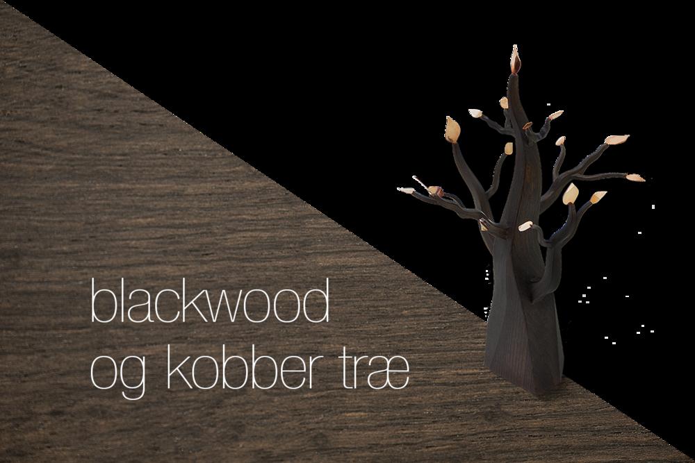blackwood og kobber træ: