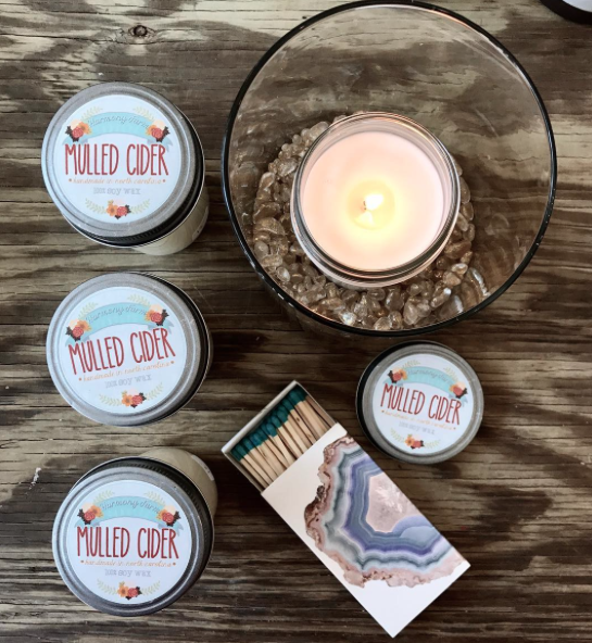 Mulled Cider CandlesHandmade in Mebane, 100% Soy,Lead Free, Cotton WicksThe best Fall scent around -