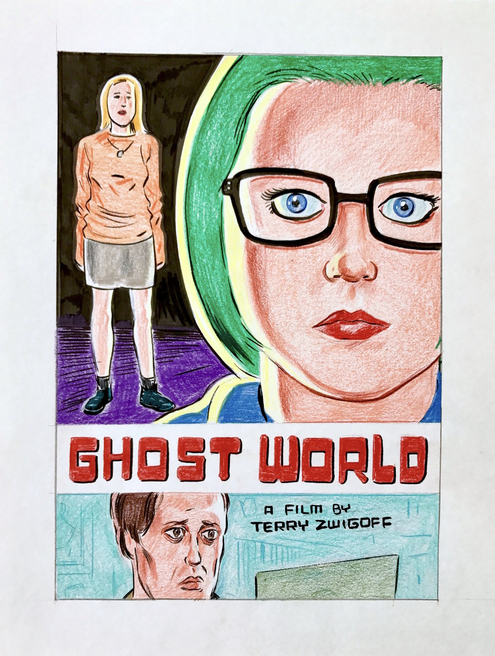 Ghost World Criterion DVD Cover Color Sketch