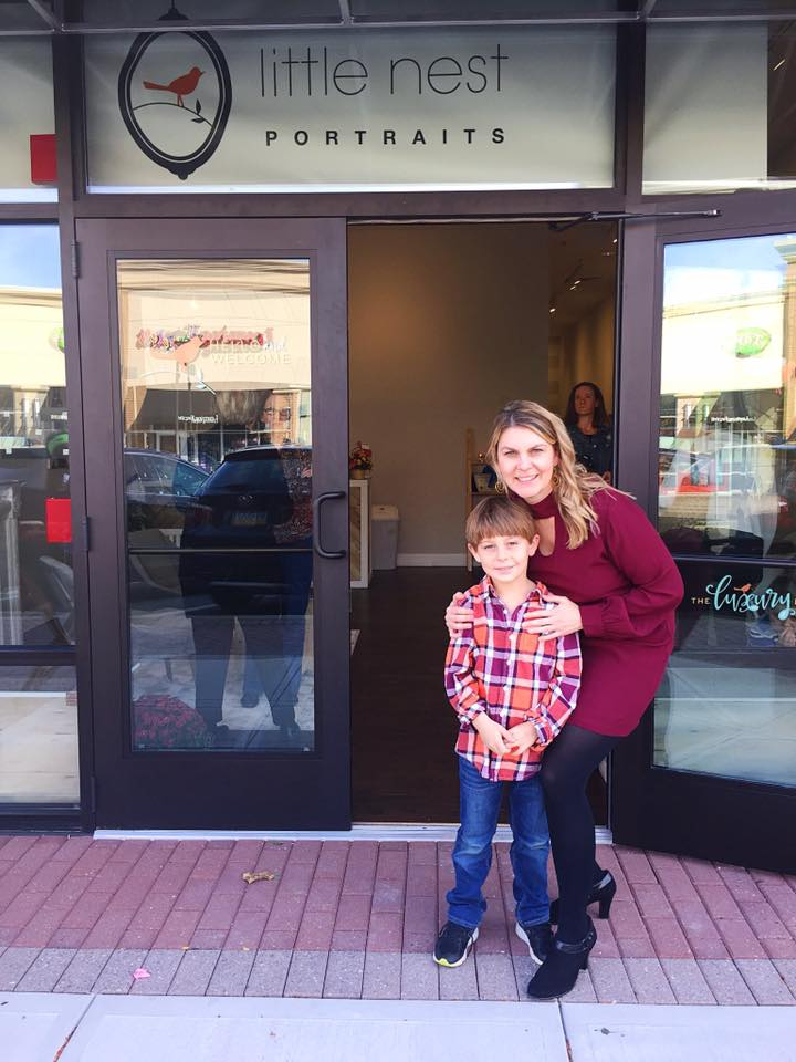 Ongoing guidance and support by a brand that truly cares about each and every franchisee   (little nest collegeville owner + her son at her grand opening)