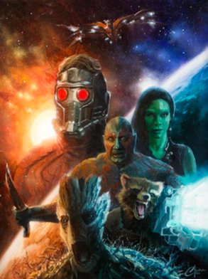 Christopher Clark Guardians of the Galaxy Giclee on Canvas 21.5 x 16 in.  Edition of 50