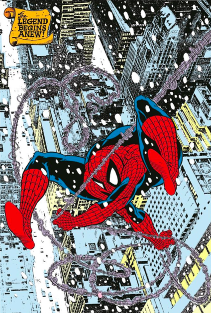 John Romita, Sr.  Snow Spider Giclee on Canvas  26 x 16 in.  Edition of 50 Signed by John Romita, Sr.