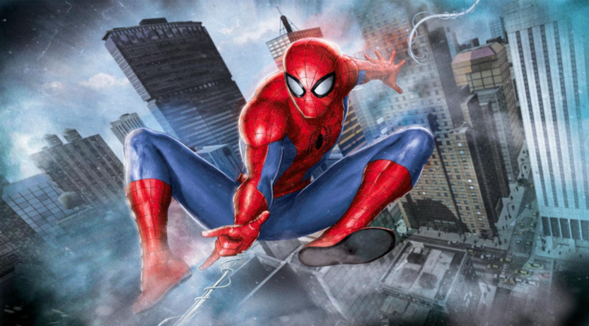 Ultimate Spider-Man Giclee on Canvas 34 x 22.5 in.  Edition of 62 Signed by Stan Lee