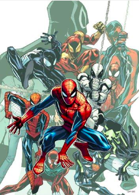 Edgar Delgado, Humberto Ramos, Marcos Martin   The Amazing Spider-Man #692   Giclee on Canvas  30 x 20 in.  Edition of 62  Signed by Stan Lee