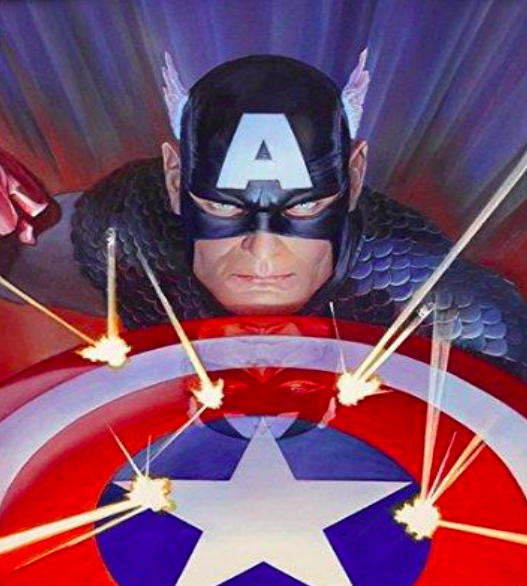 Alex Ross   Visions: Captain America   Giclee on Canvas  21 x 17 in.  Edition of 100  Signed by Alex Ross