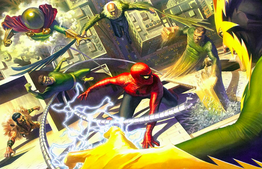 Alex Ross   Sinister 6   Giclee on Canvas  24 x 34.25 in.  Edition of 100  Signed by Alex Ross