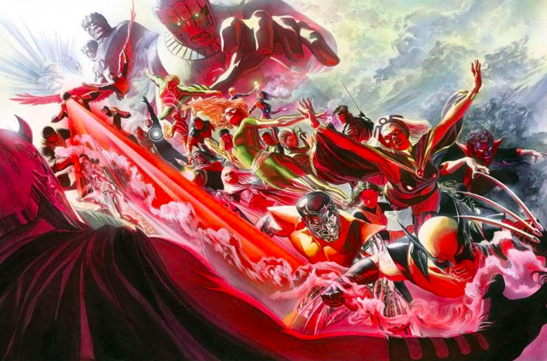Alex Ross X-Men Evolution Giclee on Canvas 24 x 32.25 in.  Edition of 25  Signed by Alex Ross