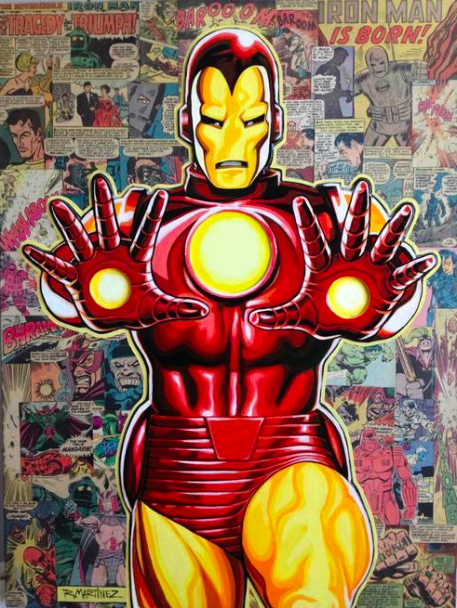 RandyMartinez   Legacy: Iron Man   Giclee on Canvas  24 x 18 in.  Edition of 50  Signed and Remarqued by Randy Martinez