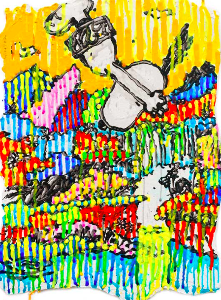 Supefly (Winter)    Giclee and Silkscreen on Paper   15 x 10.5  in.   Edition of 295