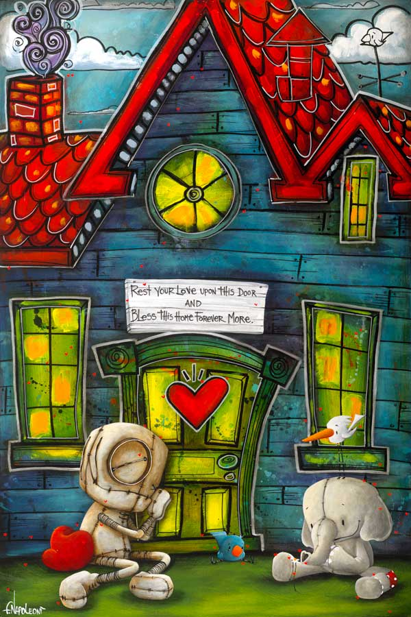 Your Love is My Home    2017   Giclee on Canvas  24 x 16 in.   Edition of 150