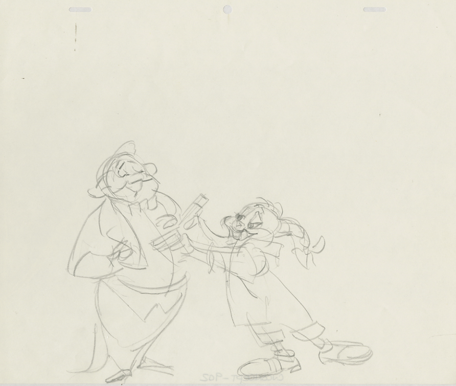 Chuck Jones   Long Haired Hare   Original Concept Drawing for the Limited Edition   Graphite on 12 Field Animation Paper   *Presented with the cel art #1/200