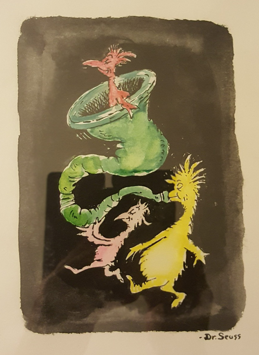 Dr. Seuss Watercolor   Ink & Watercolor on Paper