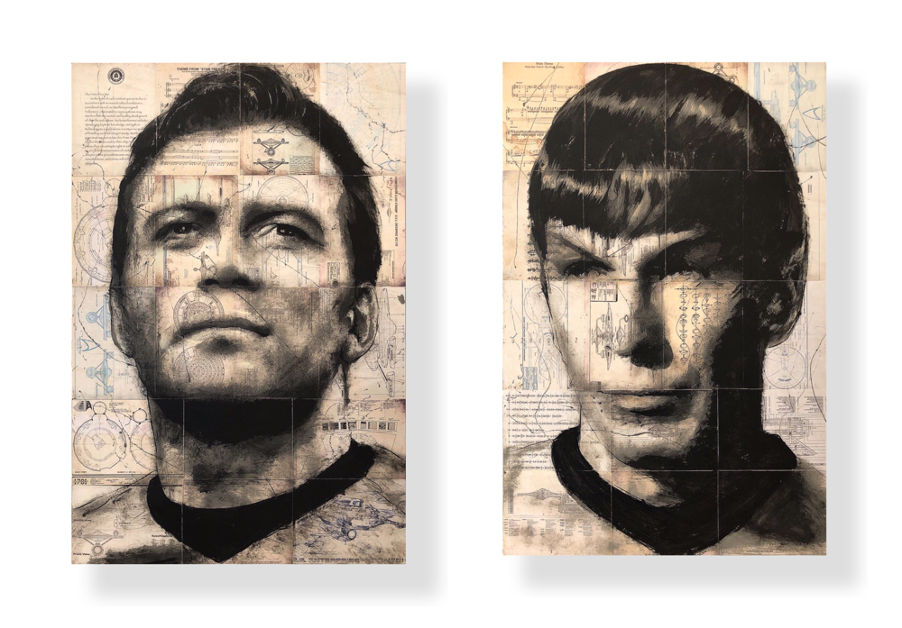 Spok nd Kirk Suite   Acrylic and Latex on Masonite Board  32 x 48 in. each