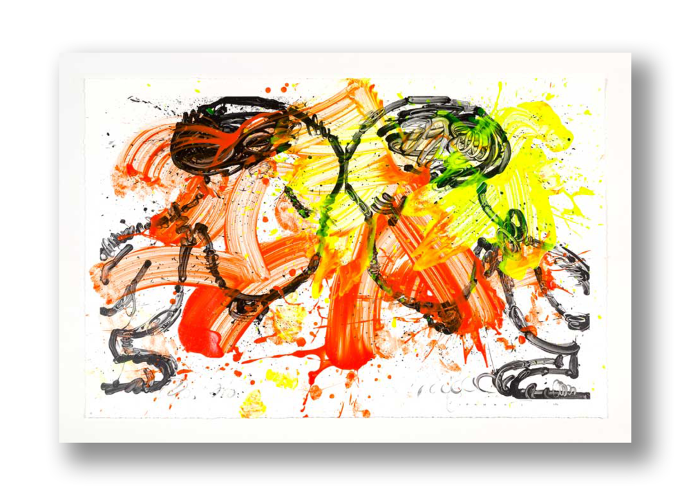 """""""R.E.S.P.E.C.T. No 11""""   21 x 31 inches Applied color original on mixed media (giclee and serigraph) paper print"""
