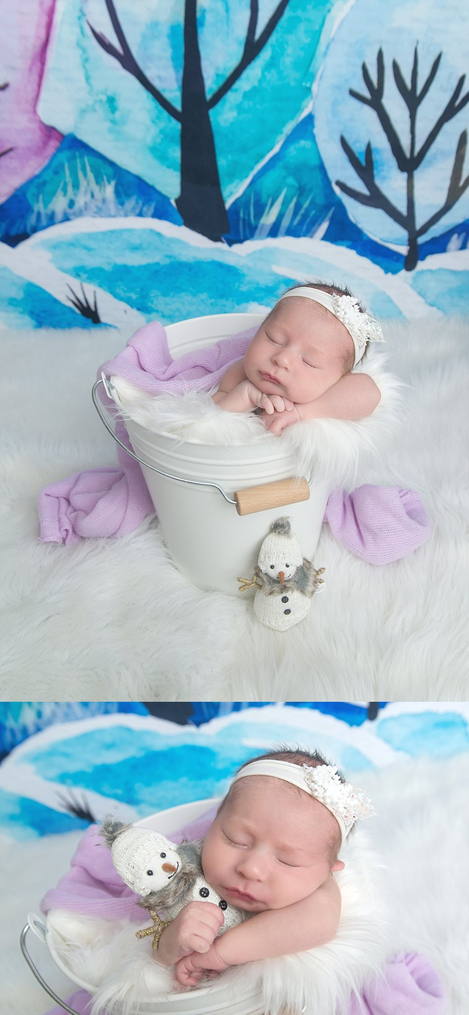 st-louis-newborn-photographer-baby-girl-on-snow-scene-with-snowman.jpg