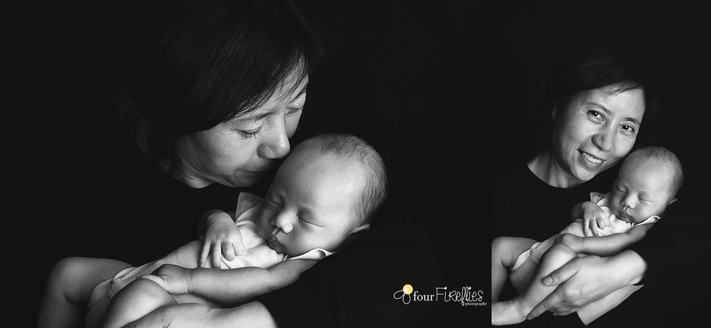 st-louis-newborn-photographer-baby-in-onsie-with-grandma-in-black-and-white.jpg