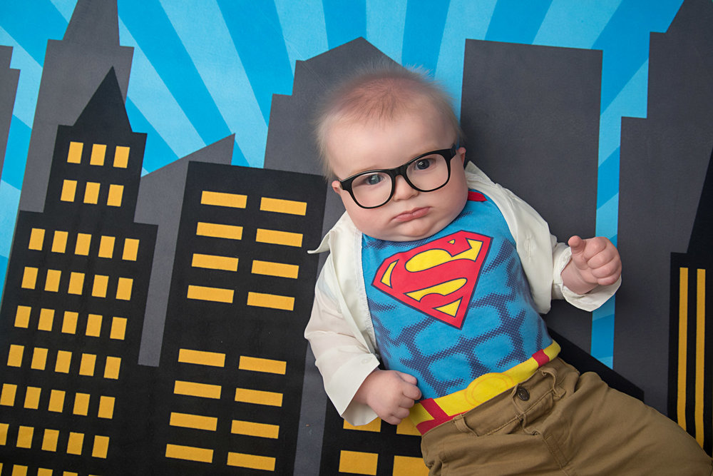 st-louis-baby-photography-studio-6-month-milestone-superman-shirt-and-glasses.jpg