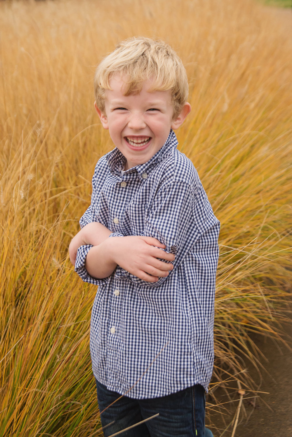 st-louis-childrens-photographer-boy-in-polo-in-front-of-tall-yellow-grass-at-the-muny-forest-park.jpg